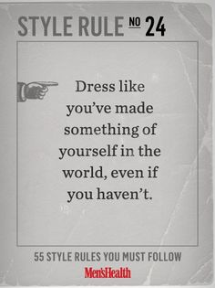 Fake it until you make it and always dress the part. #ZPStyleRules