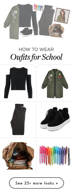 """*sitting on the railing of a balcony ; at the institute*"" by hxnters on Polyvore featuring Citizens of Humanity, WithChic and shunters"