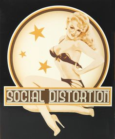SOCIAL DISTORTION PINUP STICKER - I know @Katie Smith shares my love for this sticker.