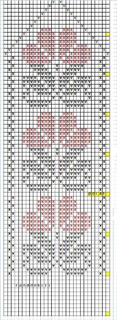 Knitted Mittens Pattern, Crochet Mittens, Filet Crochet, Knitting Charts, Knitting Patterns Free, Stitch Patterns, Tapestry Crochet Patterns, Crochet Mandala, Cross Stitch Bookmarks