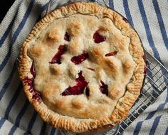 This pie offers everything a good pie should. A flaky crust and a delicious filling of sweet summer peaches, blackberries and cinnamon.