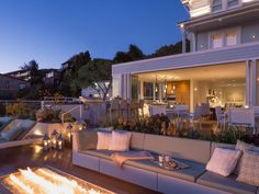 Located in Sausalito, California, the Mansion at Casa Madrona is a 5,000-square-foot guest house that boasts a huge outdoor living space with one of the most fabulous fire pits we've ever seen. You'll never want to leave.