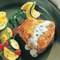 Swordfish with Cilantro-Lime Cream Recipe | MyRecipes.com