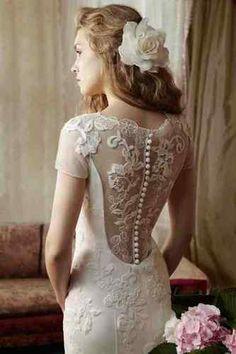 amazing vintage lace backless JUSTIN ALEXANDER style wedding dress | eBay