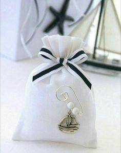 20 Nautical baptism favors-Baby boy by letsdecorateonline on Etsy Nautical Baptism, Nautical Cards, Baby Baptism, Nautical Baby, Christening Favors, Baptism Favors, Favor Bags, Gift Bags, Favour Boxes