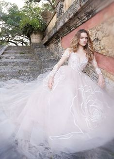 Romantic ballgown Jim Hjelm wedding dress; Click to see more gorgeous gowns.