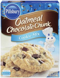 Pills bury packaging | Oatmeal Chocolate Chunk Cookie Mix - Pillsbury Baking