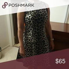 Karen Kane Leopard Print Dress Used once for a party and is in good condition. Perfect for a party or a night out! Karen Kane Dresses Midi
