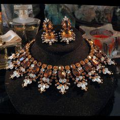 VRBA Necklace Earring Set Rarish Egyptian Collar by VWayne on Etsy