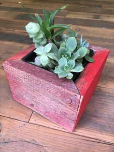 Undeniable Quality in Sustainable Material Wood Planter Box, Wood Planters, Succulent Boxes, Succulents, Small Boxes, Old Wood, Fencing, Barns, Planting