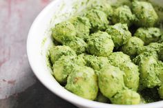 Vegan potato salad with cilantro and almond pesto