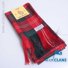 Pure wool sash in Chisholm Modern Tartan - Available from ScotClans