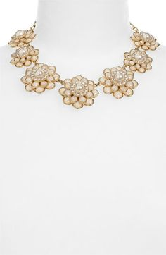 kate spade new york 'sweet zinnia' floral necklace