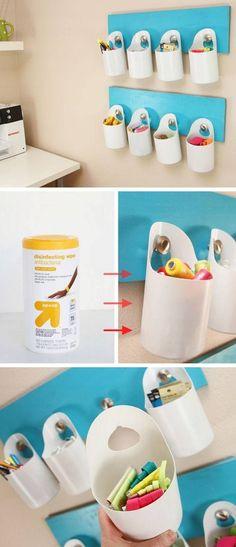 Colgando depósito de almacenamiento |  Pequeñas ideas Apartamento de decoración en un presupuesto