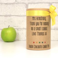 thank you teacher chocolate cookie mix by zac and lily | notonthehighstreet.com