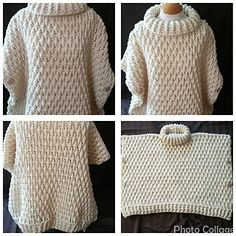 This garment has a very elegant texture. Pattern is available for small to xlarge and can be made with a number of yarn weights.