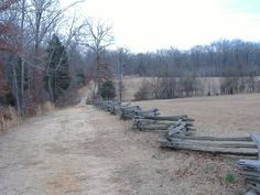 The Sunken Road at Shiloh Battlefield in Tennessee.