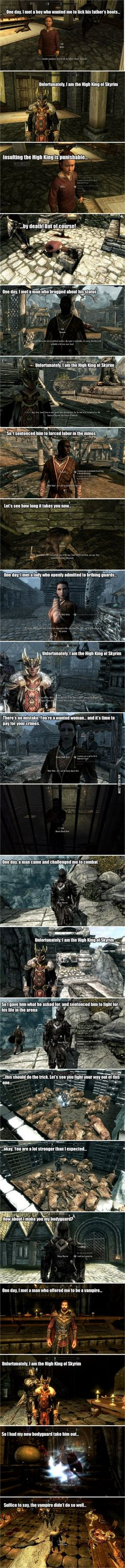Playing Skyrim peacefully