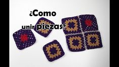 How to join pieces of crochet Lana, Squares, Purse, Toss Pillows, Tutorials, Dots, Tejidos, Manualidades, Hearts