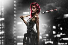 """Nightcrawler"" Model: Pardis P.   Photo and retouch by GETURSHOT.COM   www.instagram.com/geturshot   #sincity #sin #city #poto #shoot #studio #digitalart #composing #photoshop #adobe #canon #wacom #nikon #model #beauty #dark #love #fun #hair #baseball #body #black #white #camera #kamera #highend #light #frankfurt #girl #female"