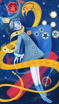 Le Petit Prince on Behance The Little Prince, Little Princess, Children's Book Illustration, Graphic Design Illustration, Identity Art, Inktober, Wallpaper, Childrens Books, Fairy Tales