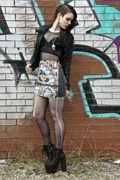Earnest Per Una Black Nude Lace Skirt Uk 12 Goth 29 Inches Long Lined Witch Grunge Clothes, Shoes & Accessories