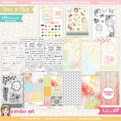 PP/196/Pearli/AJK - Print&Play - Pearli Art Journaling KIT (Eng/Afr) - Vibrance Collection