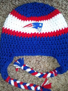 New England Patriots NFL Afghan Crochet Graph by ...