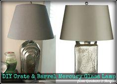 DIY Crate & Barrel Mercury Glass Lamp