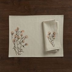 Shop Crate and Barrel to find everything you need to outfit your home. Browse furniture, home decor, cookware, dinnerware, wedding registry and more. Hand Embroidery, Embroidery Designs, Table Runner Pattern, Esty, Table Linens, Crate And Barrel, Home Textile, Crates, Napkins