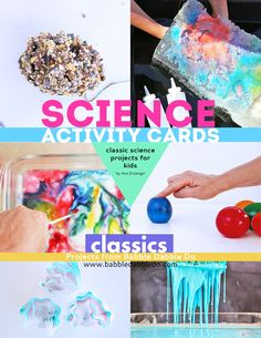 10 Science Activity Cards: CLASSICS – Babble Dabble Do Science Projects For Kids, Science For Kids, Crafts For Kids, Science Art, Science Activities, Babble Dabble Do, Pine Cone Bird Feeder, Brain Craft, Stem For Kids