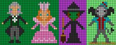 The Wizard of Oz characters perler bead pattern