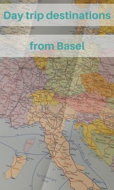 Choosing a destination in Switzerland, France or Germany for a day trip by train from Basel.