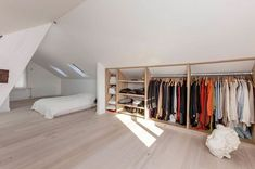 Closet space Closet space The post Closet space appeared first on Arbeitszimmer Diy. Closet space Closet space The post Closet space appeared first on Arbeitszimmer Diy. Attic Bedroom Closets, Attic Bedroom Storage, Attic Master Bedroom, Attic Bedroom Designs, Loft Storage, Attic Wardrobe, Upstairs Bedroom, Attic Rooms, Attic Spaces