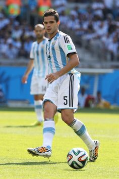 Fernando Gago of Argentina in action during the 2014 FIFA World Cup...