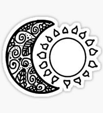 sun and moon Stickers Cute Laptop Stickers, Cool Stickers, Printable Stickers, Planner Stickers, Tumblr Stickers, Cricut Creations, Aesthetic Stickers, Sticker Design, Stencils