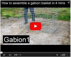 How to assemble kitset gabions