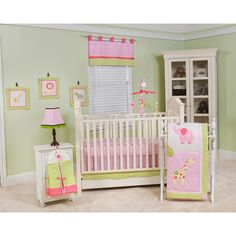 LOVE LOVE Jungle Jill 10-Piece Crib Bedding Set by Pam Grace Creations - buybuy BABY