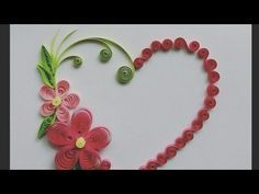 Paper Quilling Wreath For beginner Learning video 28 // Paper Quilling Flower Wreath - YouTube