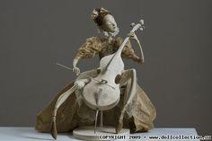 Художественная кукла Натальи Лопусовой-Томской«Урок музыки»