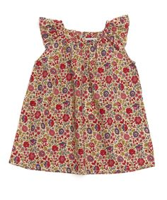 Baby Flutter Dress - This is adorable.  I will sew this...as soon as I learn to sew.  Love the fabric!
