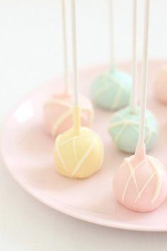 Pastel color cake pops