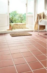 Shown here are our Sima Red Quarry tiles with are a red natural stone quarry tile which have a smooth finish.