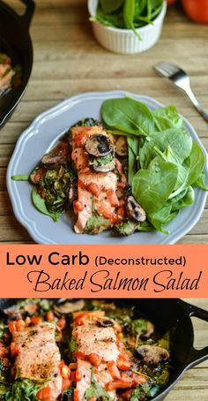 Low Carb Deconstructed Salmon Salad recipe Entree Recipes, Side Dish Recipes, Fish Recipes, Seafood Recipes, Baking Recipes, Healthy Recipes, Savoury Recipes, Clean Eating Recipes For Dinner