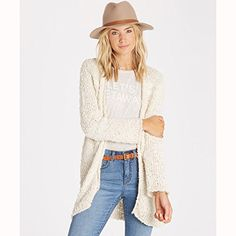 Listed Price: $74.95 Cozy cardigan in a soft slub yarn with a texture stripe.... Read more...