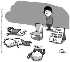 "Masajes de cuello y hombros Spock   ""Spock's Neck and Shoulder Massages - $5"""