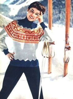 Ski fashion, Burda Modern 1954