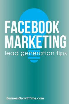 Marketing Lead Generation Tips Facebook Advertising Tips, Online Advertising, Facebook Marketing, Social Media Marketing, Best Facebook, Lead Generation, Pinterest Marketing, Learning, Business