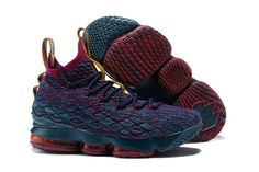 purchase cheap 35f0f 06250 2018 New Mens Nike Lebron XV EP 15 James Heights Dark Blue Red Multi Color  Basketball