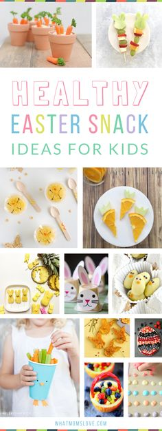 Healthy Easter Snack Ideas for Kids | Fun snacks that are great for school or for your party, perfect for toddlers, preschoolers and big kids too! Super cute and creative ideas that are easy to make! Kinder Party Snacks, Easter Snacks, Easter Lunch, Snacks Für Party, Easter Party, Easter Treats, Easter Recipes, Easter Food, Easter Desserts